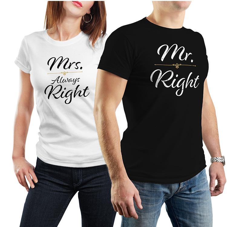 7118856e0ea9 Trička Mr Mrs Right